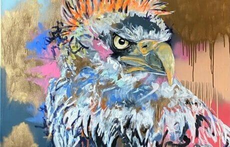 Expressionstischer Punk Adler der Künstlerin Juliane Golbs